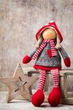 Il Babbo Natale su una slitta Fondo di gnomo di Noel Simbolo di Natale Fotografie Stock