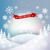 Il Babbo Natale su una slitta Natale allegro e nuovo felice royalty illustrazione gratis