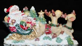 Il Babbo Natale sui cervi Fotografie Stock Libere da Diritti