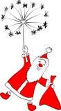 Il Babbo Natale sul dente di leone illustrazione di stock
