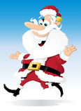 Il Babbo Natale sul movimento Fotografia Stock