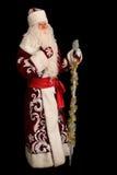Il Babbo Natale sul nero isolato Fotografia Stock Libera da Diritti