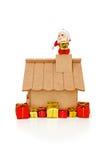 Il Babbo Natale sul tetto Immagini Stock