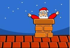 Il Babbo Natale sul tetto Fotografia Stock Libera da Diritti