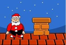 Il Babbo Natale sul tetto Immagine Stock