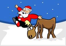 Il Babbo Natale sul tetto Fotografie Stock