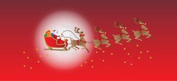 Il Babbo Natale sulla slitta Fotografie Stock