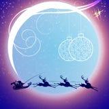 Il Babbo Natale sulla slitta con i cervi illustrazione vettoriale