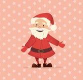 Il Babbo Natale sveglio Illustrazione di Natale di vettore Carattere luminoso del nuovo anno Immagine Stock Libera da Diritti