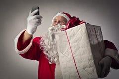 Il Babbo Natale tecnologico fotografia stock