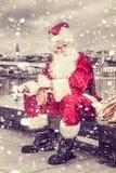 Il Babbo Natale triste Fotografie Stock Libere da Diritti