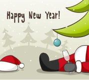 Il Babbo Natale ubriaco Fotografia Stock Libera da Diritti