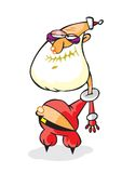 Il Babbo Natale ubriaco con il percorso Fotografia Stock Libera da Diritti
