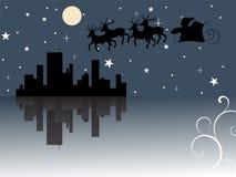 Il Babbo Natale viene alla città Immagine Stock Libera da Diritti