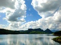 Il bacino idrico è utile all'agricoltura ed alla zootecnia Fotografia Stock