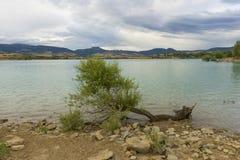Il bacino idrico di Alloz in Lerate Fotografia Stock
