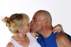 Il bacio Fotografia Stock