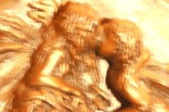 Il bacio leggiadramente Immagine Stock
