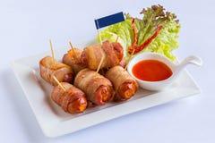 Bacon e salsiccie immagine stock