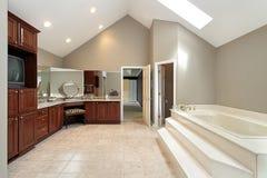 Il bagno matrice con ascende la vasca immagine stock