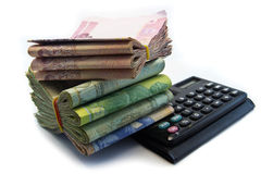 Il bagno tailandese è un monetario principale che utilizza in Tailandia Immagini Stock