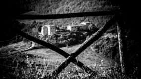 Il balcone dell'Umbria fotografia stock libera da diritti