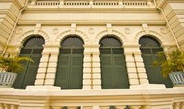 Il balcone nel grande palazzo Fotografie Stock