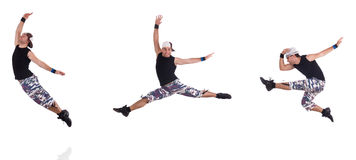 Il ballerino isolato sui precedenti bianchi Immagini Stock Libere da Diritti