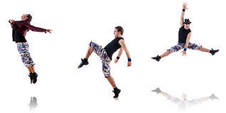 Il ballerino isolato sui precedenti bianchi Immagini Stock