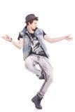 Il ballerino realizza il movimento duro Fotografie Stock