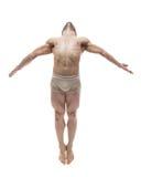 Il ballerino in studio Fotografie Stock Libere da Diritti