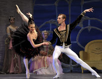 Il balletto del lago swan ha effettuato da balletto reale russo Fotografia Stock Libera da Diritti