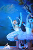 Il balletto dello stato di St Petersburg su ghiaccio - lago swan Fotografia Stock