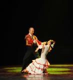 Il ballo del mondo dell'Austria amore-spagnola commovente di flamenco- Fotografie Stock Libere da Diritti