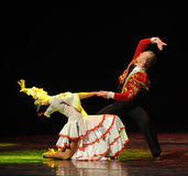 Il ballo del mondo dell'Austria amore-spagnola commovente di flamenco- Immagine Stock Libera da Diritti