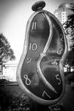 Il ballo del pezzo di arte di tempo da Salvadoro Dali ha visualizzato settembre del 2017 di Vancouver Canada Fotografia Stock