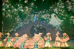 Il ballo di banchetto nel palazzo di canzone Fotografie Stock Libere da Diritti