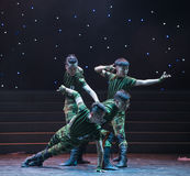 Il ballo esploratore-militare Fotografia Stock