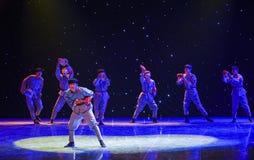 Il ballo etnico della rottura-Cina del marzo lungo Fotografia Stock