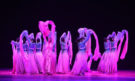 """Il ballo lungo della manica ha riempito il  di Lanfang†di drama""""Mei di filato-ballo Immagine Stock"""