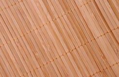 Il bambù tablecloth Fotografia Stock