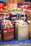 Il bambù trasporta i sacchetti Fotografia Stock