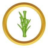 Il bambù verde stacca l'icona dal gambo di vettore Fotografie Stock