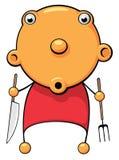 Il bambino affamato si è sorpreso Immagini Stock Libere da Diritti
