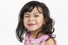 Il bambino allegro si diverte il concetto sorridente fotografia stock libera da diritti