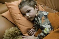 Il bambino ammalato Fotografia Stock Libera da Diritti