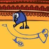 Il bambino attinge l'asfalto Royalty Illustrazione gratis