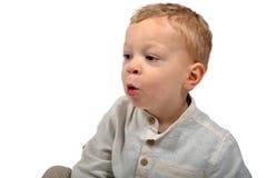 Il bambino canta Fotografie Stock