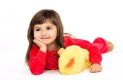 Il bambino con un giocattolo immagini stock