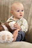 Il bambino con un giocattolo Fotografie Stock